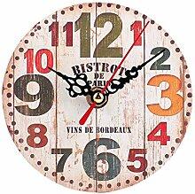 ZYUEER-1 Horloge Murale - 12cm Horloge Moderne