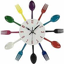 ZYUEER Horloge de Cuisine Effet Miroir en Forme de