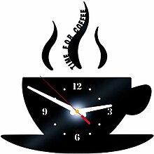 ZYUEER Horloge Murale Imprimé Café DIY, Home