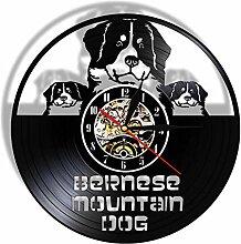 ZZBBQ Chien Disque Vinyle Horloge Murale Grand