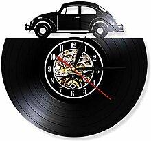 ZZBBQ Vintage Voiture Vinyle Disque Horloge Murale