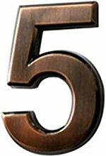 ZZDT Belle Numéros de Maison Modernes Bronze