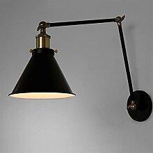 Zziyj 1 Lumière Vintage Wall Sconce Éclairage En