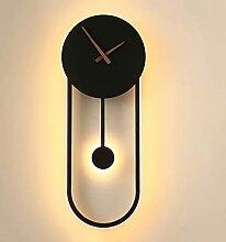 ZZKDBS Lampe murale Art Déco horloge LED mur