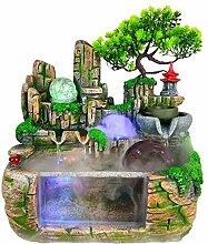 ZZKJXHJ Fontaine de Bureau Cascade/décoration de