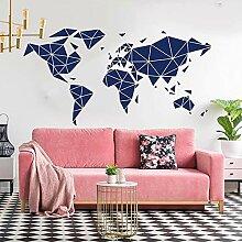 ZZLLL Grande Carte du Monde géométrique
