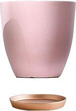 ZZTWER Pot de Fleur de céramique de Luxe Lumineux
