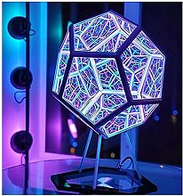ZZTY Infinite Dodecahedron Color Art Light -